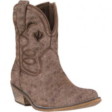 Dingo Women's Tan Adobe Rose Shortie Cowgirl Boots DI696