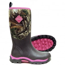 Muck Ladies Woody Max Fleece Lined Boots-Pink/Realtree APG WDW-4RTX