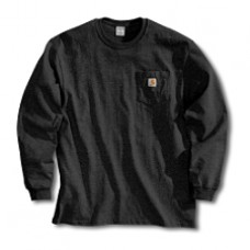 Carhartt Men's Long Sleeve Pocket T-shirt K126BLK