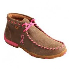 Twisted X Ladies Driving Moc Breast Cancer Pink WDM0051