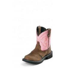 Justin Youth Brown and Pink Gypsy 9901Y