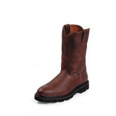 Justin Mens Tan Pull On Work boot WK4905