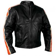 Hot Leather Mens Jacket #JKM1007
