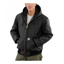 Carhartt Mens Duck Active Jac Quilted/Flannel Lined J140BLK