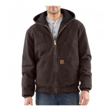 Carhartt Mens Sandstone Active Jac/Quilted Flannel Lined J130DKB